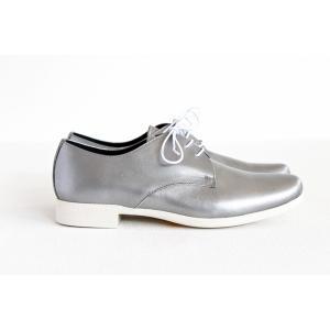 TRAVEL SHOES by chausser トラベルシューズバイショセ プレーントゥレースアップシューズ TR-008 シルバー/ホワイト レディース 靴 shoesgallery-hana 06