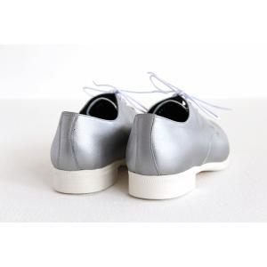 TRAVEL SHOES by chausser トラベルシューズバイショセ プレーントゥレースアップシューズ TR-008 シルバー/ホワイト レディース 靴 shoesgallery-hana 07