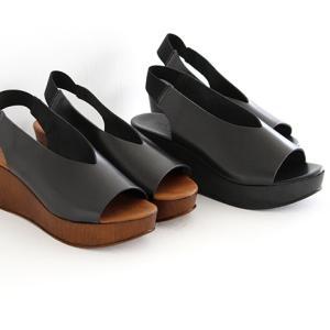 eness エネス ウェッジソール レザーサンダル No.55750V レディース 靴|shoesgallery-hana