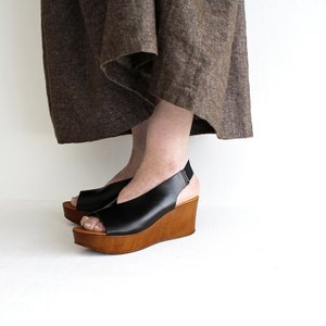 eness エネス ウェッジソール レザーサンダル No.55750V レディース 靴|shoesgallery-hana|03