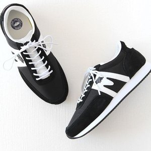(10%OFFクーポン配布中)KARHU(カルフ)ナイロン×スエード スニーカー ALBATROSS/アルバトロス black/white (メンズ)|shoesgallery-hana