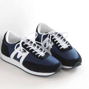 (10%OFFクーポン配布中)KARHU(カルフ)ナイロン×スエード スニーカー ALBATROSS/アルバトロスdeep navy/white (メンズ)|shoesgallery-hana