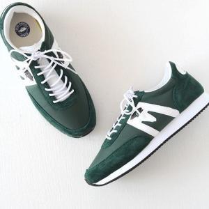 (10%OFFクーポン配布中)KARHU(カルフ)ナイロン×スエード スニーカー ALBATROSS/アルバトロス green/white (メンズ)|shoesgallery-hana