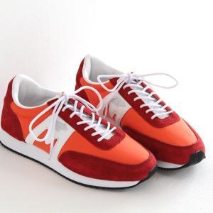 (10%OFFクーポン配布中)KARHU(カルフ)ナイロン×スエード スニーカー ALBATROSS/アルバトロス red/white (メンズ)|shoesgallery-hana