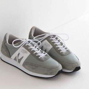 (10%OFFクーポン配布中)KARHU(カルフ)ナイロン×スエード スニーカー ALBATROSS/アルバトロス wrought iron/white (メンズ)|shoesgallery-hana