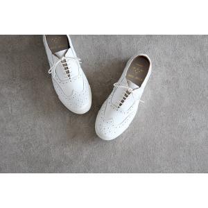 ses amis セザミ ウイングチップレザースニーカー SA-01 chausser ショセ レディース 靴|shoesgallery-hana|03