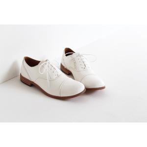 SPACE CRAFT スペースクラフト ホースヌメ革 レースアップシューズ SC-112 ホワイト レディース 靴|shoesgallery-hana|02