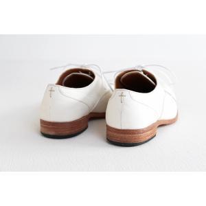 SPACE CRAFT スペースクラフト ホースヌメ革 レースアップシューズ SC-112 ホワイト レディース 靴|shoesgallery-hana|09