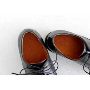 SPACE CRAFT スペースクラフト プレーントゥ レースアップシューズ SC-163 ブラック キップレザー レディース 靴|shoesgallery-hana|10