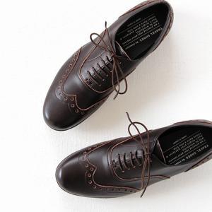 TRAVEL SHOES by chausser トラベルシューズバイショセ ウイングチップレースアップシューズ TR-004 ダークブラウン レディース 靴|shoesgallery-hana