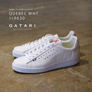 パトリック スニーカーケベック ホワイト PATRICK QUEBEC WHT 119630 靴紐通...