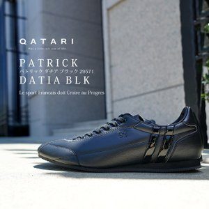 パトリック スニーカー ダチア ブラック PATRICK DATIA BLK 29571 靴紐通し済