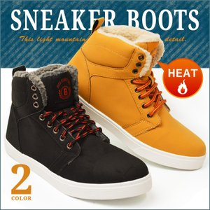 靴 メンズ ブーツ スニーカー メンズ 防寒ブーツ ワークブーツ メンズブーツ スノーブーツ ハイカット スニーカー|shoesquare