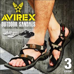AVIREX サンダル メンズ BUFFALO バッファロー スポーツサンダル アウトドア アヴィレックス アビレックス ミリタリー カジュアル 靴 メンズシューズ|shoesquare