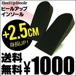 ヒールアップインソール送料無料自然な高さ・履き心地で美脚効果 身長2.5cmUpシークレットインソール 中敷 衝撃吸収 fu25insl