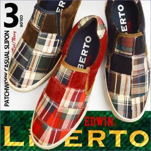 靴 メンズ スニーカー スリッポン シューズ キャンバス コーデュロイ カジュアルシューズ LIBERTO EDWIN リベルト エドウィン メンズ 靴|shoesquare