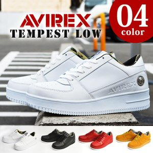 AVIREX アビレックス TORNADE トルネード アヴィレックス メンズ スニーカー 本革 レザー ローカット ミリタリー 迷彩 革靴 【取り寄せ】|shoesquare