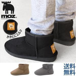 moz モズ ムートンブーツ レディース ショートブーツ 暖かい靴 ファーシューズ|shoesstore-reodert