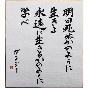 偉人の名言「明日死ぬかのように生きよ 永遠に生きるかのように学べ」手書き色紙|shogendo