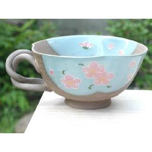 京焼 清水焼     焼締桜 スープカップ|shoindo