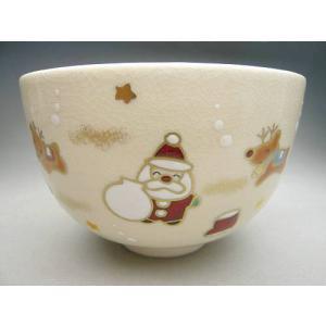 京焼 清水焼     抹茶碗 クリスマス 宝泉 shoindo