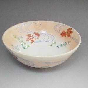 京焼 清水焼     平茶碗 金魚 亨|shoindo