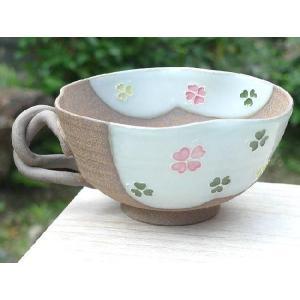 京焼 清水焼     焼締クローバスープカップ|shoindo