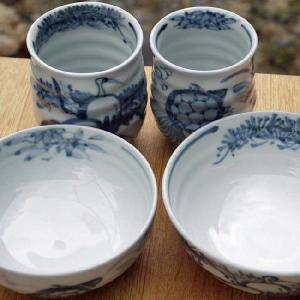 京焼 清水焼     鶴亀長寿夫婦湯呑と夫婦茶碗セット 瑞昭|shoindo|05