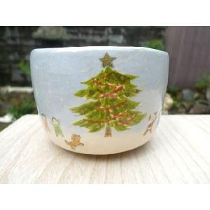 京焼 清水焼     楽茶碗 クリスマス 桂山 shoindo