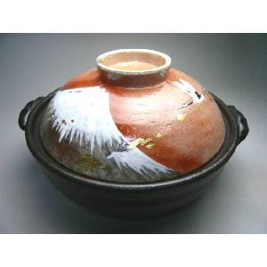 京焼 清水焼     土鍋 赤富士 瑞光 shoindo