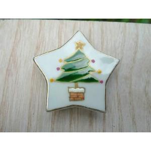 京焼 清水焼     箸置き 星のクリスマス クリスマスツリー単品 shoindo