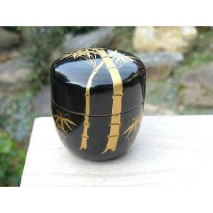 京焼 清水焼     棗 太竹 木乾(黒)|shoindo