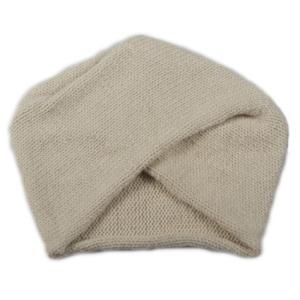 SHOKAY(ショーケイ)「ターバン・ハット(オフホワイト)」ヤク素材ニット帽|shokay