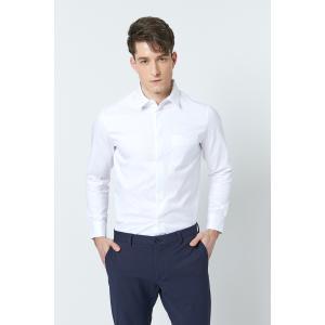 SHOKAY(ショーケイ)メンズ・コットンドレスシャツ(ホワイト)|shokay