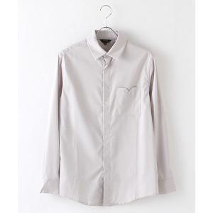 SHOKAY(ショーケイ)メンズ・コットンドレスシャツ(ライトグレー)|shokay