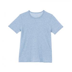 SHOKAY(ショーケイ)メンズ・ニットTシャツ(コットンヤク素材、ペールブルー)|shokay|02