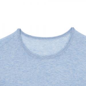 SHOKAY(ショーケイ)メンズ・ニットTシャツ(コットンヤク素材、ペールブルー)|shokay|04