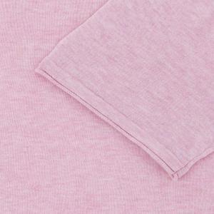 SHOKAY(ショーケイ)メンズ・ニットTシャツ(コットンヤク素材、ペールピンク)|shokay|04