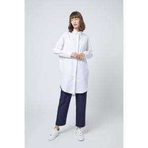SHOKAY(ショーケイ)ウィメンズ・コットンシャツドレス (ホワイト)|shokay