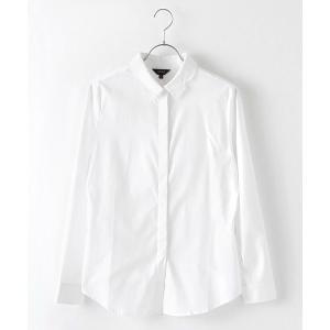 ウィメンズ・コットンドレスシャツ(ホワイト)|shokay