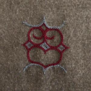 アイヌ文様刺繍フクロウ|shokay