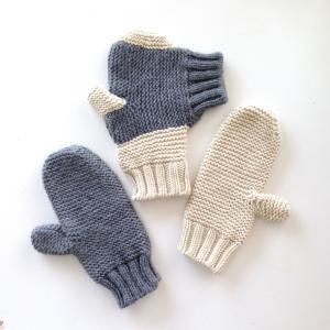 SHOKAY(ショーケイ)フォーエバー・ハンド・イン・ハンド・ミトンズ (手をつなぐ手袋:カップル用 グレイ/オフホワイト)|shokay