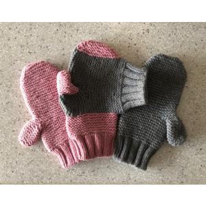 SHOKAY(ショーケイ)「フォーエバー・ハンド・イン・ハンド・ミトンズ」(手をつなぐ手袋:カップル用 グレイ/ピンク)|shokay