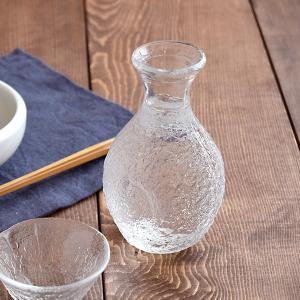 ガラス徳利 1合 岩模様 クリア 日本製 徳利 とっくり 酒器 徳利 ガラス ガラス ガラス食器 冷...