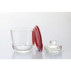 ハリオガラスの一夜漬け器GTK-Sレッド (TKG17-0266)|shokki-pro
