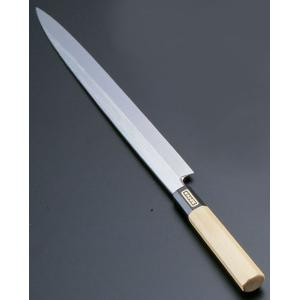 SA佐文 本焼鏡面仕上 柳刃木製サヤ  30cm 7-0279-0102 和庖丁(刺身) shokki-pro