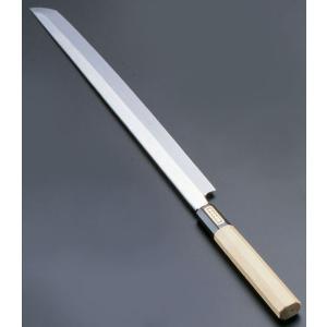 SA佐文 本焼鏡面仕上 蛸引木製サヤ  33cm 7-0279-0202 和庖丁(刺身) shokki-pro