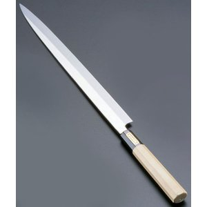 SA佐文 本焼鏡面仕上 ふぐ引 木製サヤ  27cm 7-0279-0301 和庖丁(刺身) shokki-pro