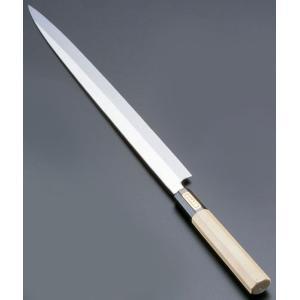 SA佐文 本焼鏡面仕上 ふぐ引 木製サヤ  33cm 7-0279-0303 和庖丁(刺身) shokki-pro
