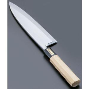SA佐文 本焼鏡面仕上 出刃木製サヤ  21cm 7-0279-0401 和庖丁(出刃) shokki-pro